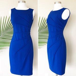 Calvin Klein Royal Blue Sheath Career Dress